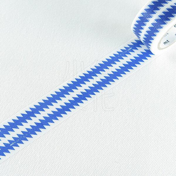 ~小徑文化~ 和紙膠帶 mt x artist series ~ ZIGZAG藍   MT