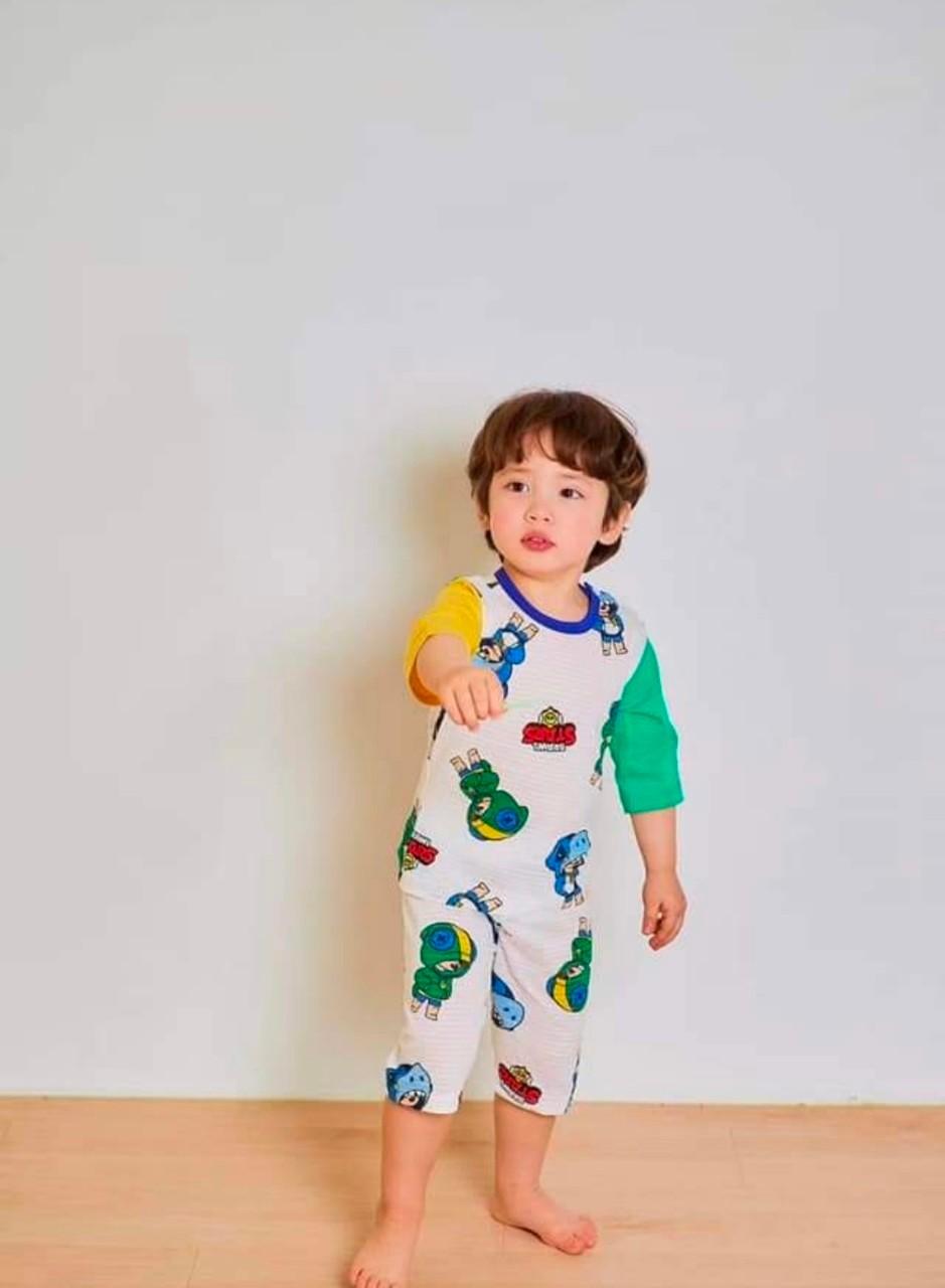 (現貨)正韓國純棉ttasom兒童居家服春夏款(七分袖)90-170cm 芒果姐姐童裝屋