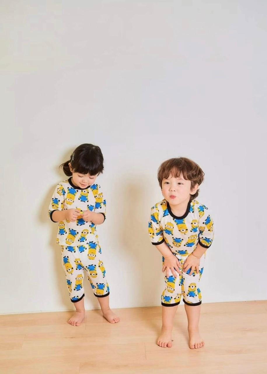(現貨)正韓國純棉 ttasom兒童居家服春夏款小小兵(七分袖)90-170cm 芒果姐姐童裝屋
