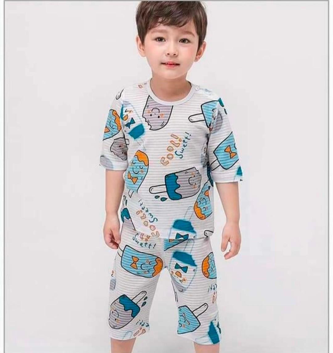 (現貨)正韓國純棉 Mellisse兒童居家服春夏款冰棒(七分袖)90-150cm 芒果姐姐童裝屋