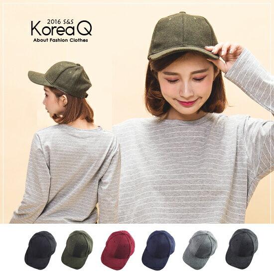 帽款 百搭純色毛呢鴨舌帽^(預 現^) Korea Q~16100122~ ~  好康折扣