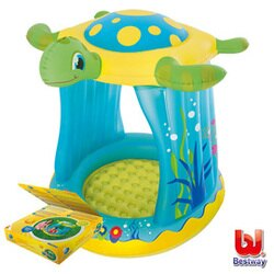 《Bestway》抗UV烏龜造型充氣水池(附25顆球)
