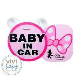 ViViBaby - Disney迪士尼米妮蝴蝶結行車警示牌 0