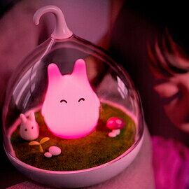 WallFree窩自在★童話景觀超萌小精靈LED床燈/小夜燈-愛心紅