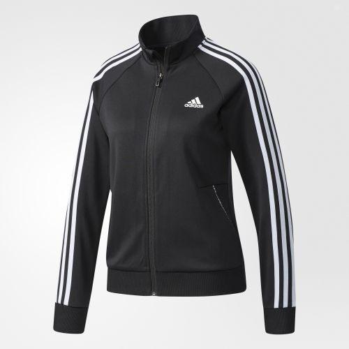 Adidas JKT KN TRICOT 3 女裝 外套 立領 休閒 三條線 黑 【運動世界】 CF3671