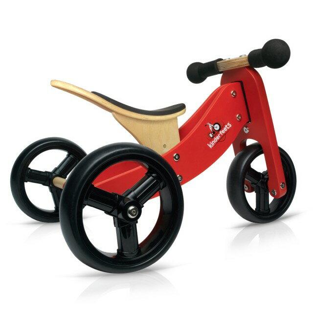 美國【Kinderfeets】木製平衡滑步車/教具車-初心者三輪系列(4色) 1