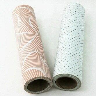 【珍昕】 止滑環保廚櫃墊 ~2花色  粉花紋.綠點點 30x120x0.15cm