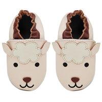 Kimi + Kai Unisex Soft Sole Leather Crib Baby Shoes - Lamb