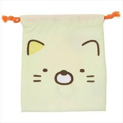 大賀屋 日貨 角落生物 貓咪 束口袋 收納袋 束口 袋子 化妝袋 角落小夥伴 San-x 正版授權 J00015631