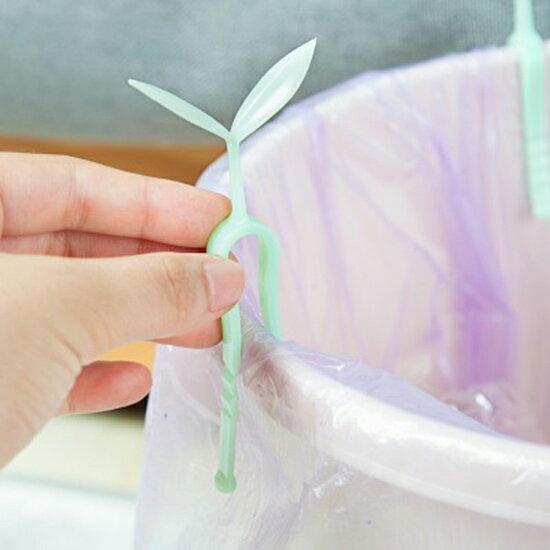 ?MY COLOR? 創意垃圾桶固定夾3入裝 夾子 垃圾袋 桶邊 防滑夾 固定器 塑膠袋【N298】