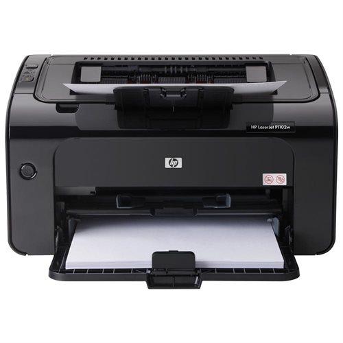 HP LaserJet Pro P1102W Laser Printer - Monochrome - 600 x 600 dpi Print - Plain Paper Print - Desktop - 19 ppm Mono Print - A4, A5, A6, B5, Postcard, C5 Envelope, DL Envelope, B5 Envelope, Legal, Custom Size - 150 sheets Standard Input Capacity - 5000 Dut 0
