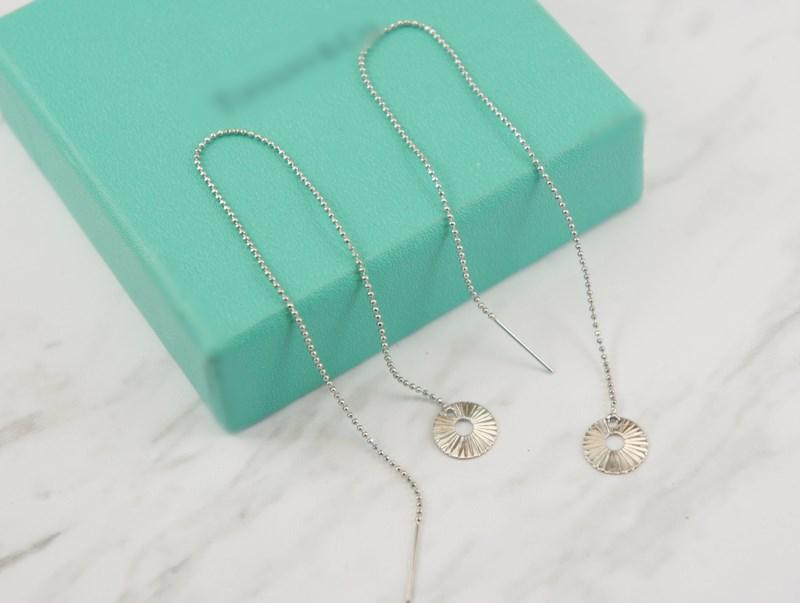 2383986圓片立體活動式金屬鍊條耳環、耳扣、耳勾、耳針、耳飾