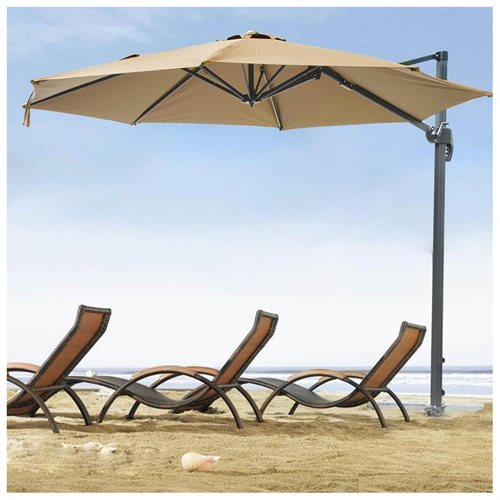 10ft Hanging Offset Roma Outdoor Patio Umbrella Uv30 200g W Crank Pedal Control Green