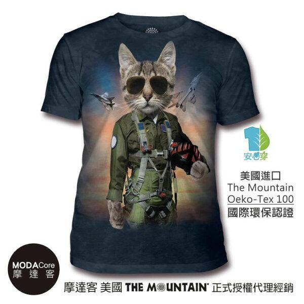 【摩達客】(預購)美國TheMountain都會系列湯姆克魯貓中性修身短袖T恤