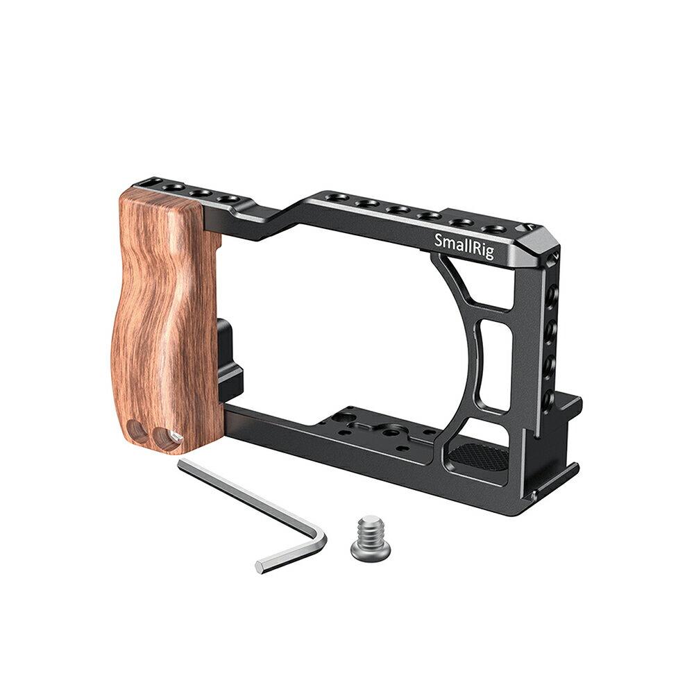 ..  SmallRig CCC 2422 Cage 鋁合金外框套組 含木製握柄 Kit for Canon G7X Mark III 兔籠 錄影用支架 散熱 G7X3 Arca 公司貨