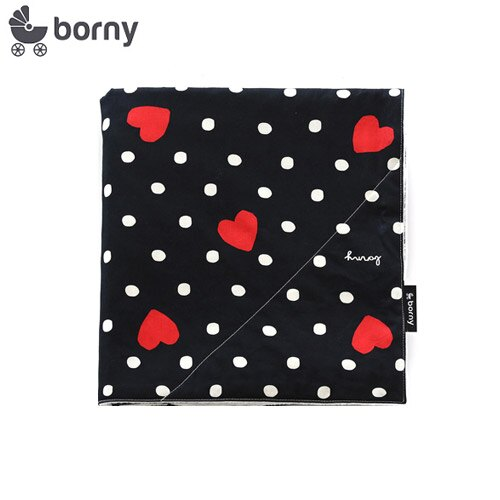 韓國【 Borny 】四季安撫毯(嬰兒毯)(黑底愛心) - 限時優惠好康折扣