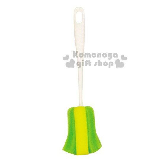 〔小禮堂〕PEARL METAL 日製水壺清潔刷《白綠黃 》