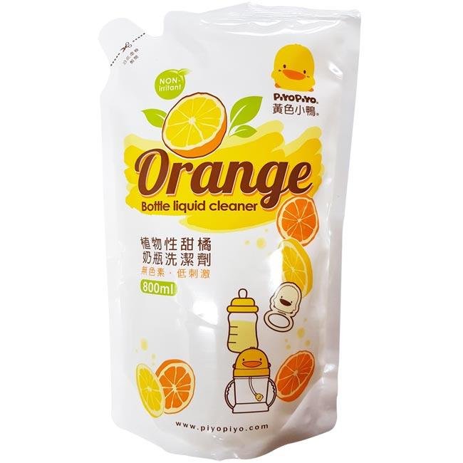 【奇買親子 網】黃色小鴨 奶瓶洗潔劑補充包800ML(香甜橘油)