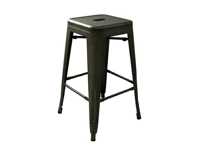 《奧莉薇》銀色 三色可選 高吧檯椅 工業風 loft 亮面 霧面 鐵椅 餐椅 高凳 tolix 復古 美式 !新生活家具! 樂天雙12