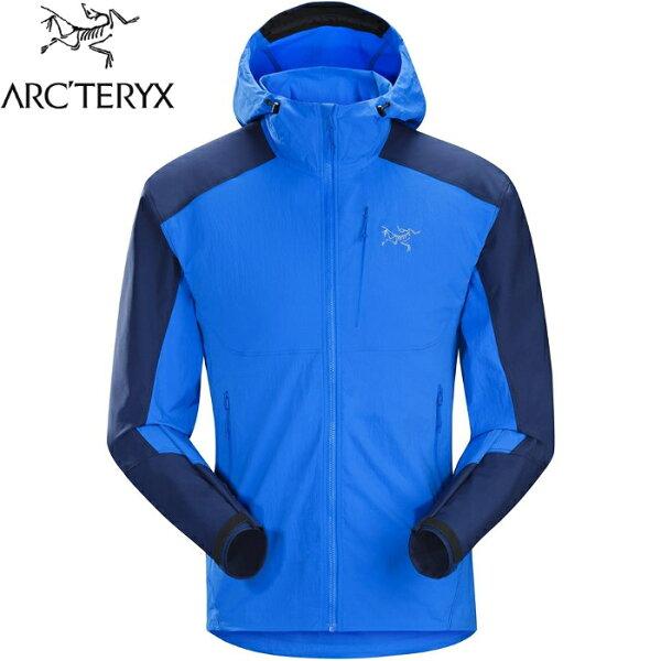 Arcteryx始祖鳥軟殼外套輕軟殼防風連帽夾克機能外套登山健行旅遊PsiphonFL男款22388參宿藍