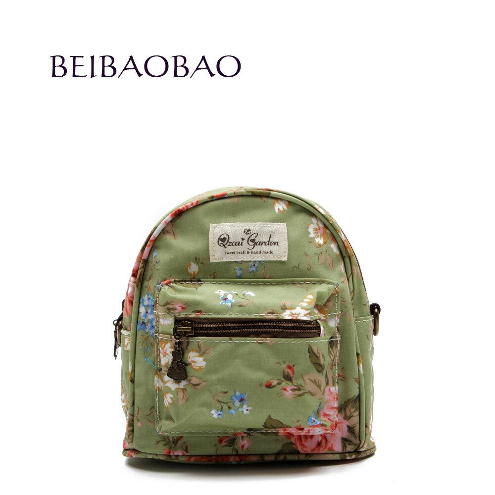 【BEIBAOBAO】玫瑰綠花漾親子包( 大+中+小 共三個) 3