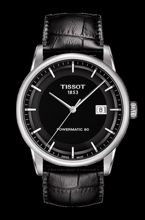TISSOT 天梭 LUXURY 動力儲存80機械手錶 黑 T0864071605100
