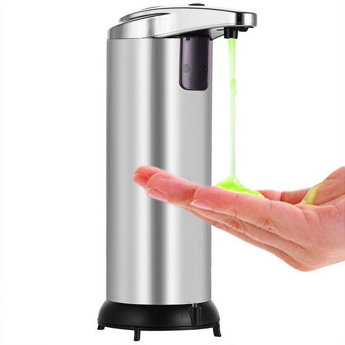 Automatic Touchless Soap Dispenser Stainless Steel Dispenser with Base 250ml 0