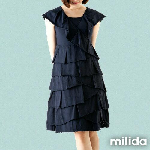 【milida】MMRYDP004☆長版荷葉邊連身裙 5