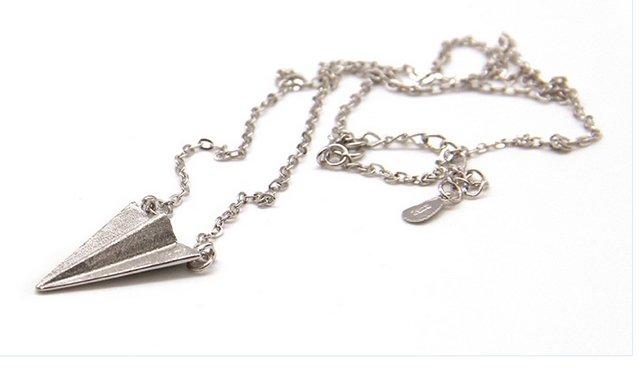 【BIRDYEDGE】韓國 925純銀 訂製 紙飛機 飛機項鍊 純銀 手工訂製