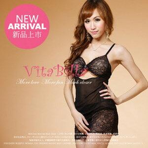 【伊莉婷】VitaBilla 激情時刻 睡裙+小褲二件組 A000620619