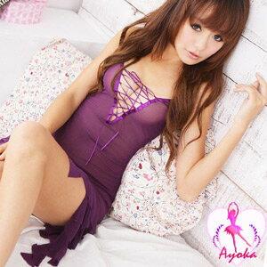 【伊莉婷】注目浪漫!性感柔紗二件式睡襯衣 A020383-1 - 限時優惠好康折扣