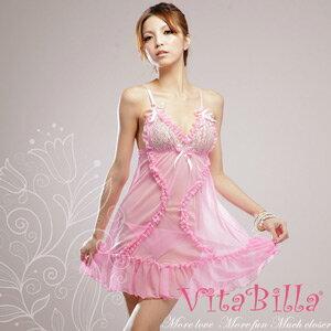 【伊莉婷】VitaBilla 粉色誘惑 睡裙+小褲 二件組 D507900424