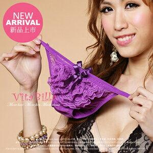 【伊莉婷】VitaBilla 靚麗蕾絲紫 小褲 一件入 F303900802