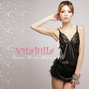 【伊莉婷】VitaBilla 魔幻情人 LUCKMATE 時尚女王 睡裙+小褲 二件組 G003510003 0