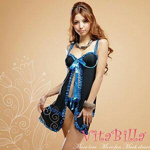 【伊莉婷】VitaBilla 性感精靈 睡裙+小褲 二件組 G004620001 0
