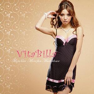 【伊莉婷】VitaBilla 激情百分百 LUCKMATE 唯一的愛 睡裙+小褲 二件組 G004620002