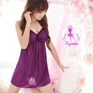 【伊莉婷】 浪漫擄獲!深紫誘惑睡襯衣 NA09020056 0