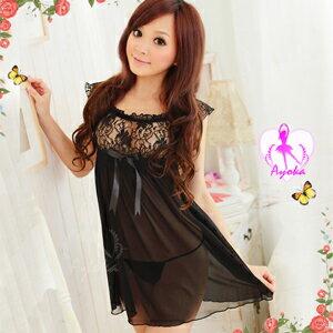 【伊莉婷】 風情萬種!二件式小蓋袖睡襯衣 NA09020133 0