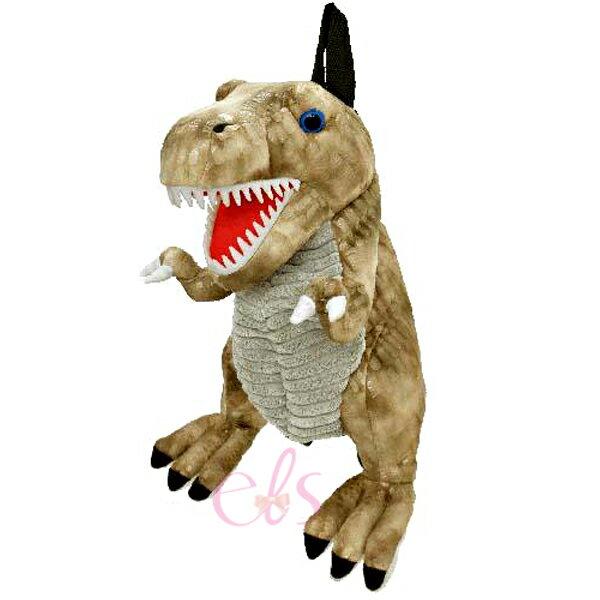 艾莉莎ELS:日本立體造型兒童後背包棕色恐龍☆艾莉莎ELS☆