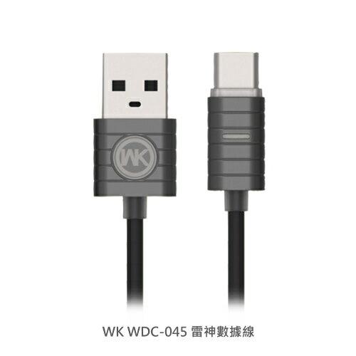 WK 雷神數據線 智能呼吸燈 Micro USB iPhone 7 8 Plus Type-C 傳輸線 充電線 快充線