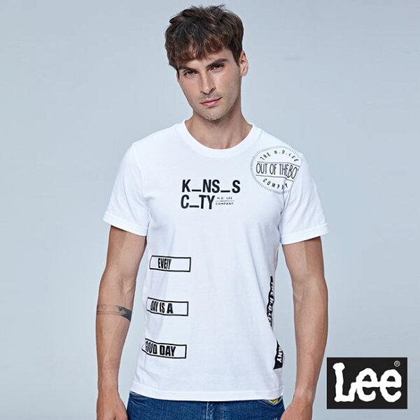 Lee填字短袖圓領TEERG-白色