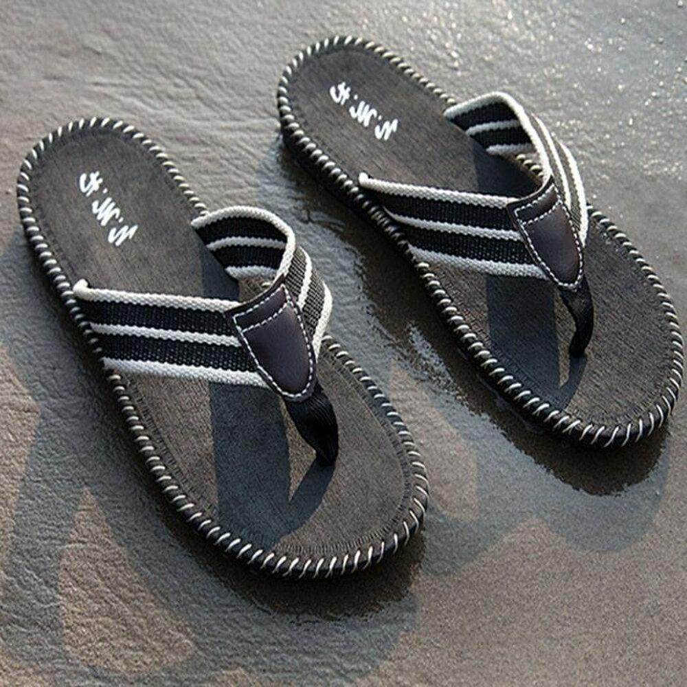 夾拖鞋 男士人字拖夏季英倫潮流個性沙灘鞋耐磨防滑透氣學生夾腳涼拖鞋男 維多原創
