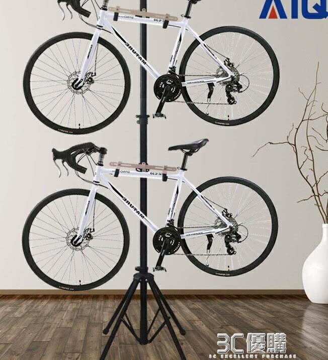 自行車掛架單車四腳掛車架頂天立地柱兒童平衡車立式停車架