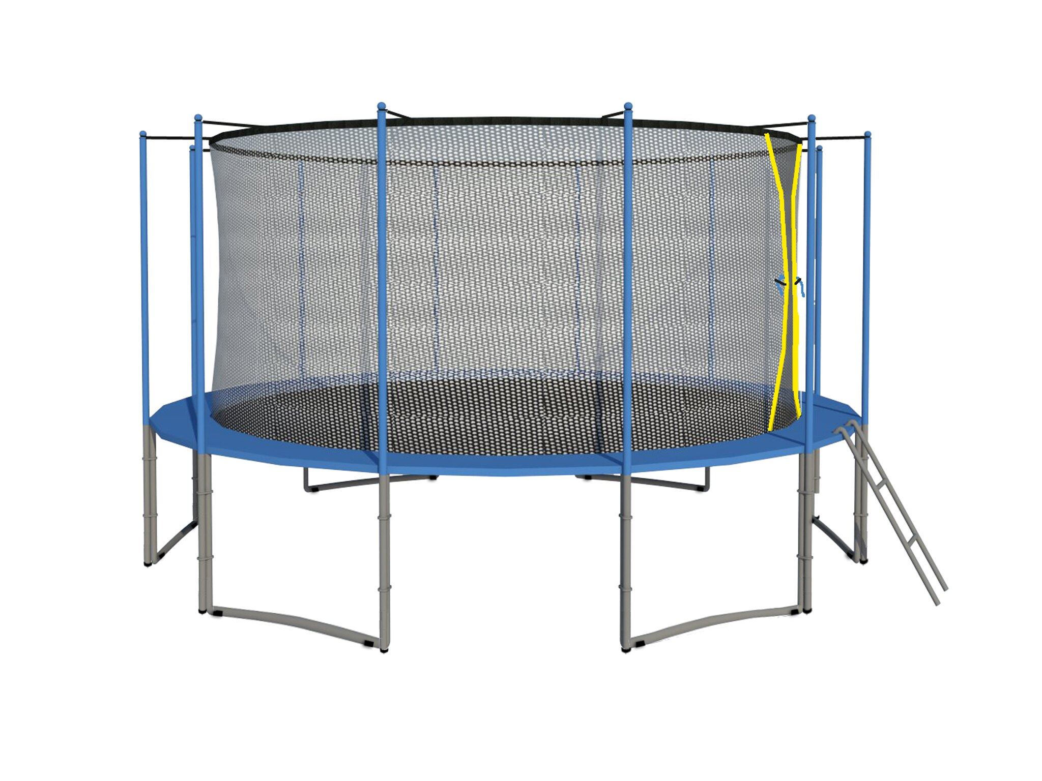 ExacMe 16 FT Inner Trampoline w/ Enclosure Net Ladder ALL-IN-ONE COMBO C16 0