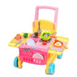 《 MIMI World 》2in1可愛廚房手推車