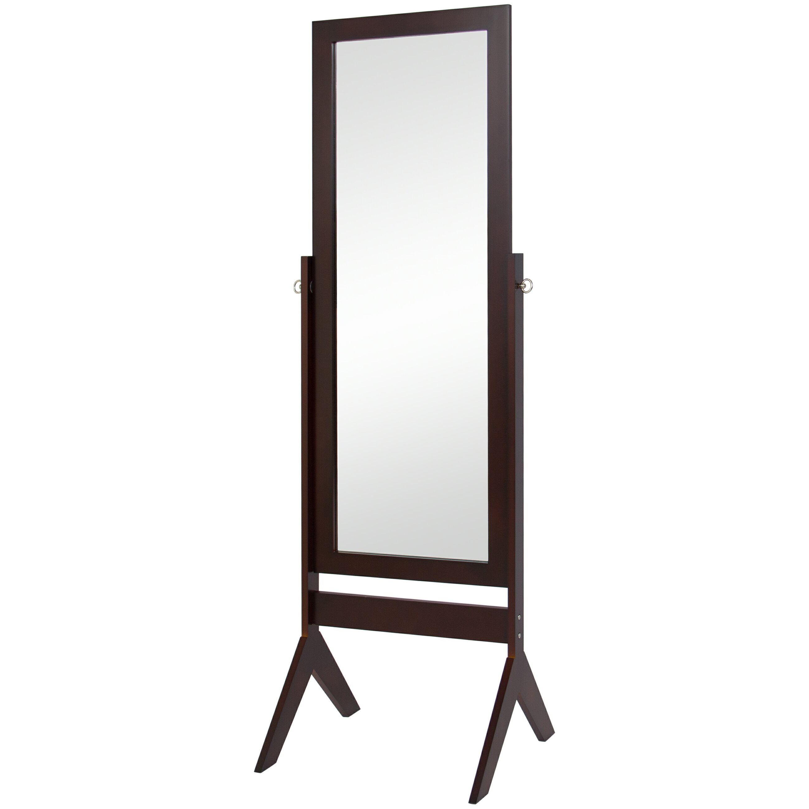 Best Choice Products Cheval Floor Mirror Bedroom Home Furniture- Espresso Brown 0