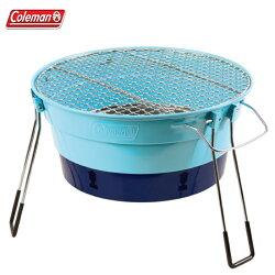 【露營趣】中和安坑 Coleman CM-27317 PACKWAY烤肉爐II/天空藍 烤肉架 燒烤爐 桌上型烤爐 暖爐 取暖器 BBQ