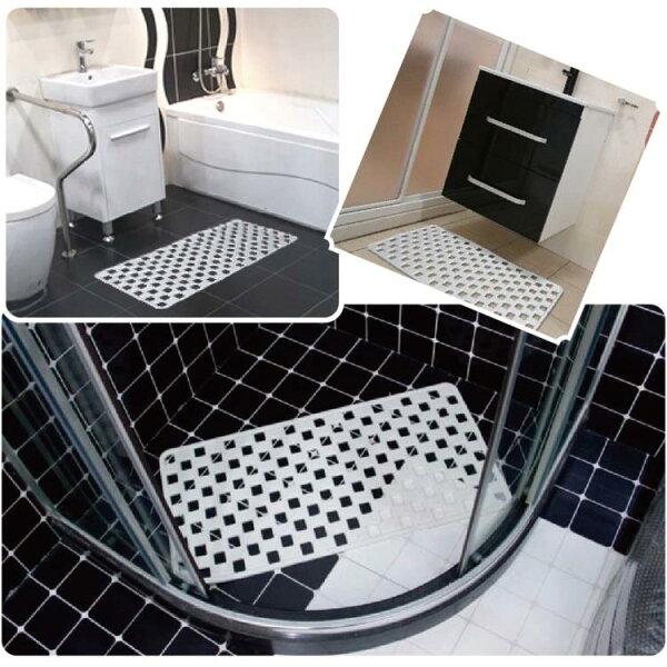 PVC格狀吸盤式止滑墊-耐用型浴廁用洗手檯用格狀排水設計防滑墊銀髮族老人用品*可超取*[ZHCN1756]