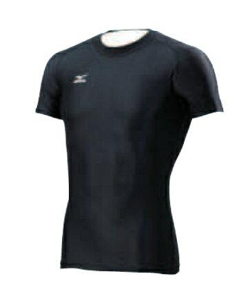 [陽光樂活] MIZUNO 美津濃 BIO GEAR 圓領短袖緊身衣 黑色 A60BS35609【12/1-31 單筆滿2000結帳輸入序號 XmasGift-outdoor 再折↘250   單筆滿..