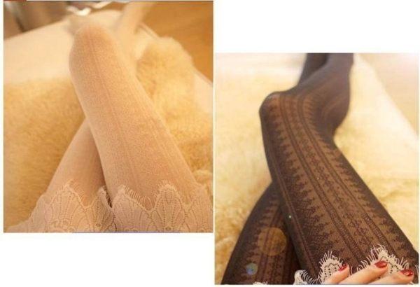 ~草魚妹~H91褲襪蘿麗塔風唯美豎條蕾絲公主復古鏤空顯瘦褲襪連褲襪絲襪,售價128元